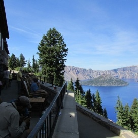 Crater lake side walk photo 7