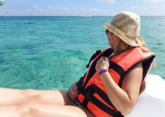 Sea Women Tourist Pedal Boat Caribbean Beach