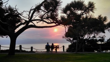 Sunset Walk Beach Romantic Date Bench Couple