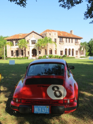 red car mansion
