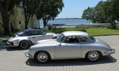 Two silver cars