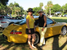 Yellow car ladies